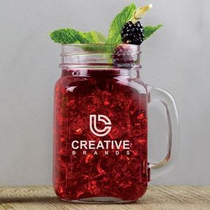16 Oz. Mason Jar Mug w/Screen Printed Logo